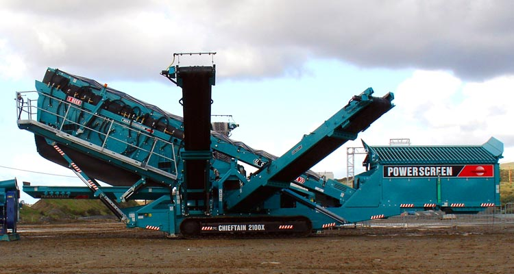 Powewrscreen Chieftain 2100X Rinser